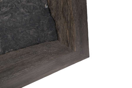 Beautiful details of an oak wood frame on a white background.