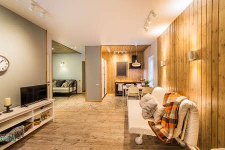 Beautiful modern studio home interior. New design. Foto de archivo - 134555588