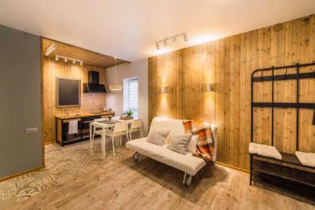 Beautiful modern studio home interior. New design. Archivio Fotografico - 134555590