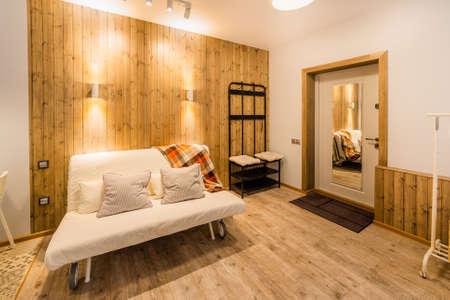 Beautiful modern studio home interior. New design. Archivio Fotografico - 134555543