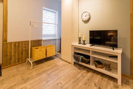 Beautiful modern studio home interior. New design. Archivio Fotografico - 134555545