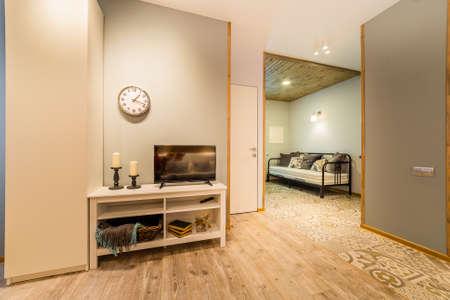 Beautiful modern studio home interior. New design. Archivio Fotografico - 134555532