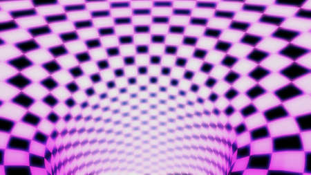 Multicolored circular abstract background. Tunnel of lines.