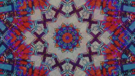 Designer kaleidoscope background with beautiful elements. New trends.