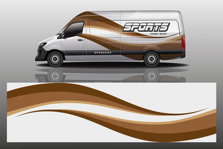 van car decal wrap design vector van car decal wrap design vector