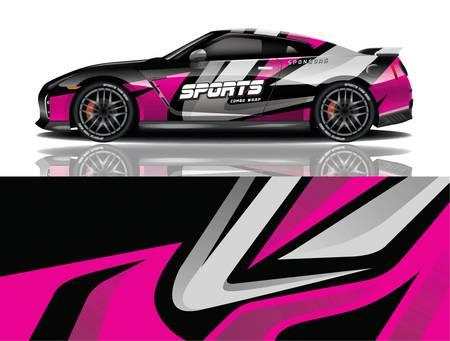 vector de diseño de envoltura de calcomanía de coche deportivo vector diseño de envoltura de calcomanía de coche deportivo Ilustración de vector