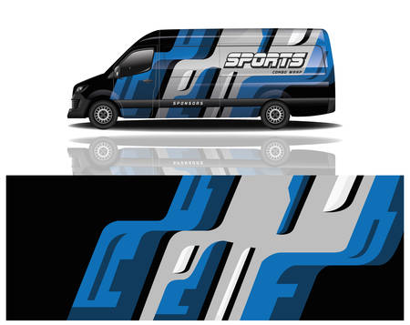 van car decal wrap design vector van car decal wrap design vector