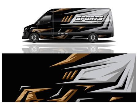 van car decal wrap design vector van car decal wrap design vector Vetores