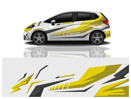 car decal wrap design vector car decal wrap design vector Vetores