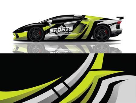 sport car decal wrap design vector eps 10 向量圖像