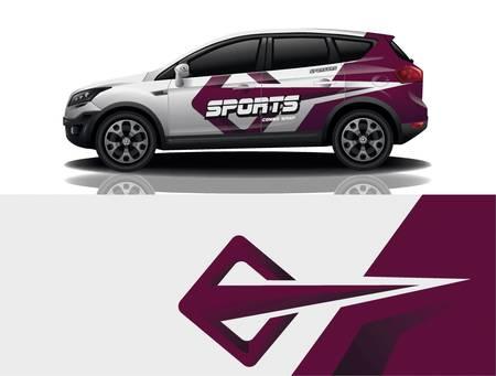 sport car decal wrap design vector sport car decal wrap design vector