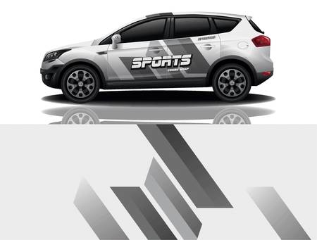 sport car decal wrap design vector Ilustrace