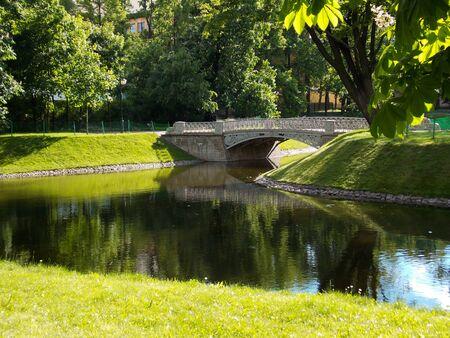 River and bridge Stok Fotoğraf