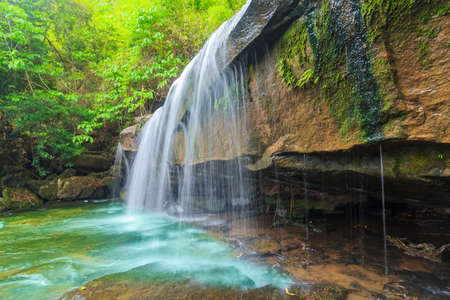 Wonderful Waterfall with deep forest at national park, Thailand.