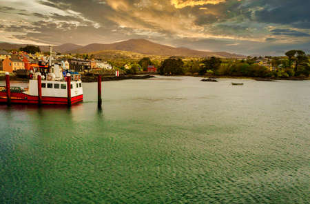Shoreline of Beara Peninsula in the town of Castletownbere.County Cork,Ireland. Banco de Imagens