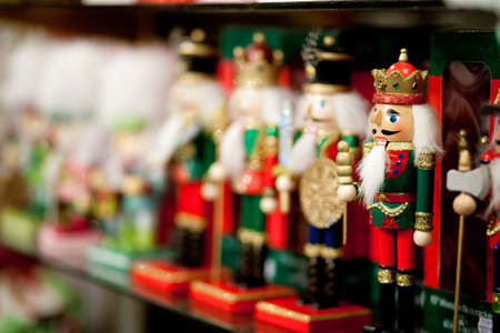 A row of nutcracker soldiers