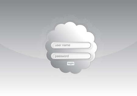 readymade: An illustrasion vector web login form for your design, website, application,  Illustration