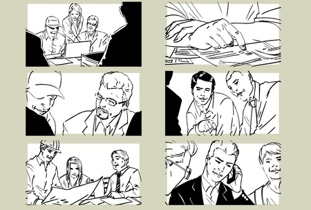Hand drawn business meeting collection -i-