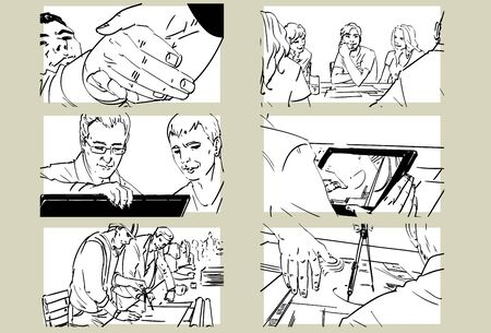 Hand drawn business meeting collection -ii- Illustration