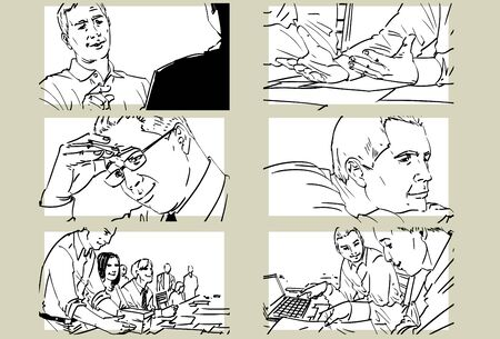 Hand drawn business meeting -iii-