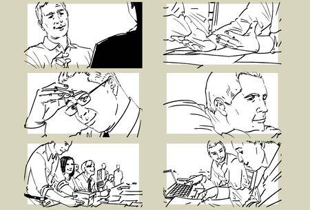 Hand drawn business meeting -iii-