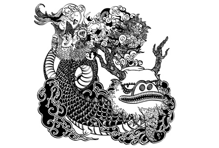 japan pattern: East Dragon