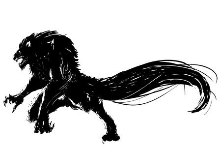 lupo mannaro: lupo Vettoriali