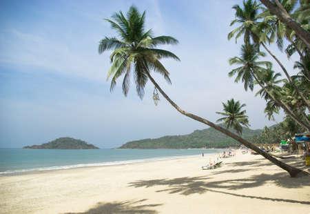 Tropical beach of Palolem, Goa, India photo