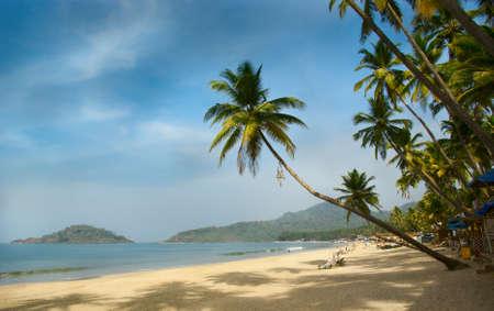 beach scene: Tropical beach of Palolem, Goa, India