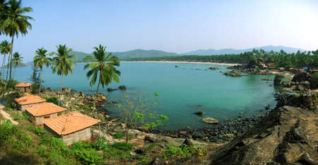 Palolem Beach lagoon, Goa photo