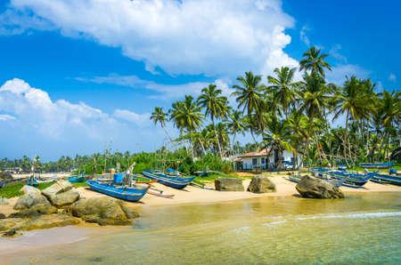 スリランカのビーチ。ヒッカドゥワ。