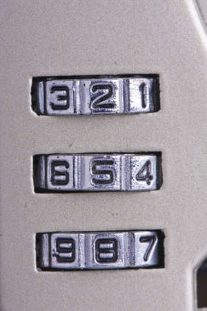 number wheels of mechanical combination lock Stock Photo - 7219633