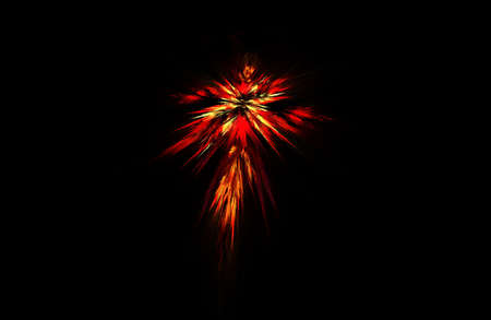 bright: fractal illustration of combustion