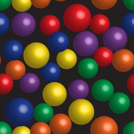 Rainbow Balls Seamless Pattern