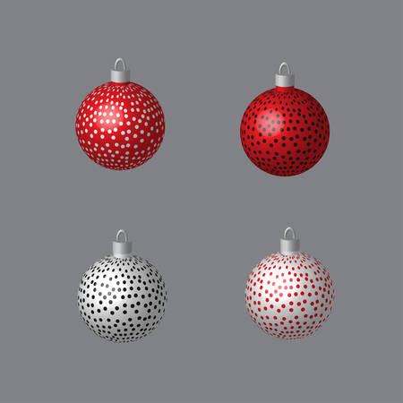 Decorative Balls Dotted for Christmas Tree