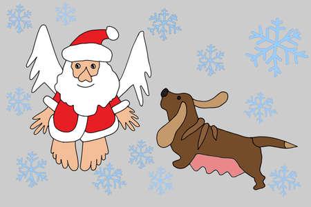 Santa Claus and Zodiac Dog