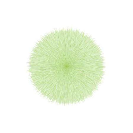 Green Fluffy Vector Hair Ball 写真素材