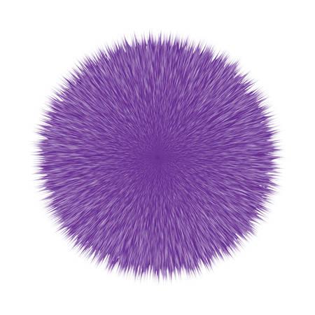 紫ふわふわベクトルヘアボール