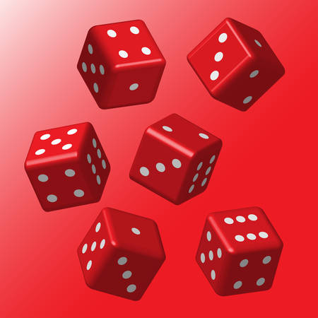 Red Dice with White Points