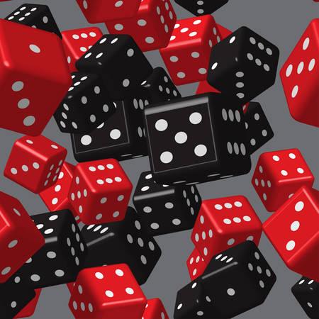 Red Black Dice Seamless Pattern