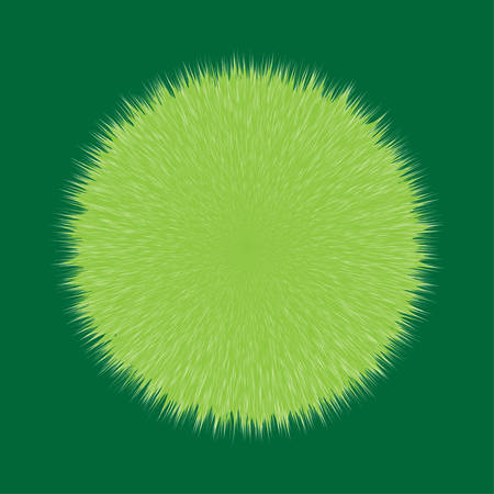 Green Fluffy Vector Hair Ball Ilustrace