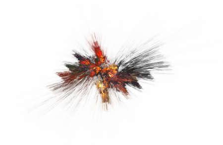 fractal illustration of combustion