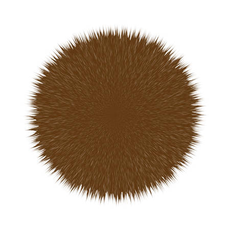 Brown Fluffy Vector Hair Ball Ilustração