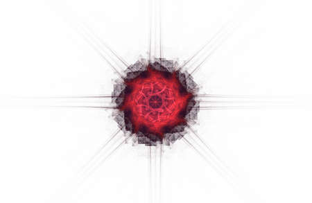 abstract aggressive fractal red black figure