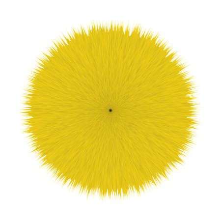 Yellow Fluffy Hair Pom