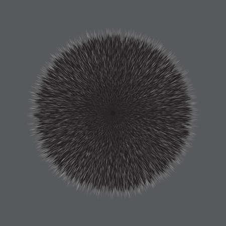 Gray Fluffy Hair Pom
