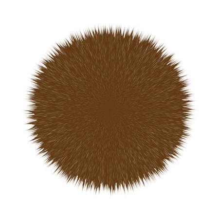 Brown Fluffy Hair Pom