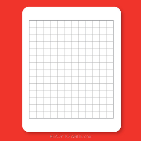White plain paper printed with table pattern on the red background is ready to use or print for people who would like to write Chinese character.