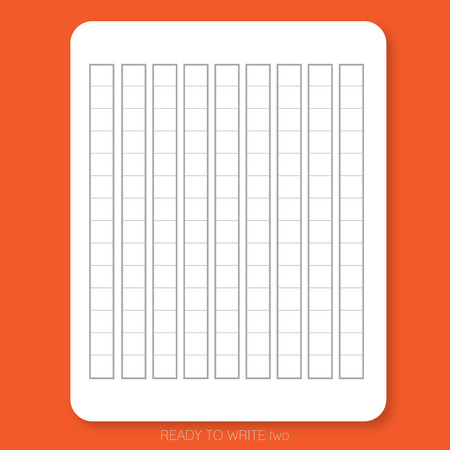White plain paper printed with table pattern on the red background is ready to use or print for people who would like to write Japanese character.