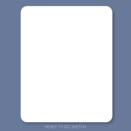 White plain paper on the blue background is ready to use or print for people who would like to make design draft, sketch or do scrapbook.